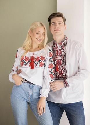 Парні вишиванки блуза та сорочка