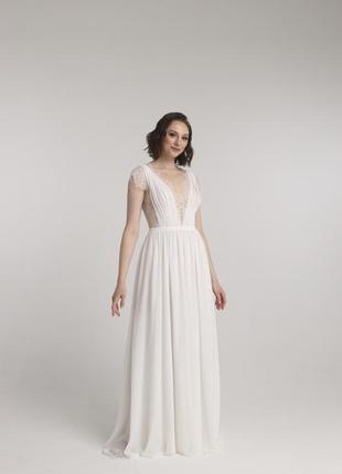 Свадебное платье в современном греческом стиле