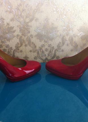 Женские туфли кожаные красные – лакированные++