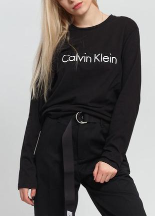 Женская черная кофта лонгслив calvin klein 9014336