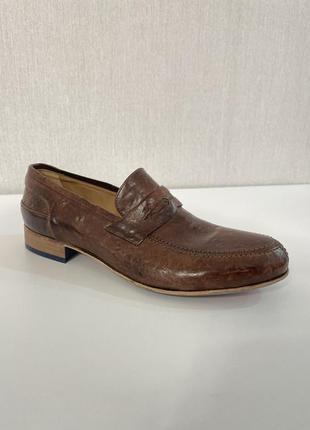 Кожаные лоферы туфли lorenz