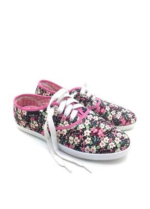 Кеды женские 4rest цветочный принт розовые текстильные