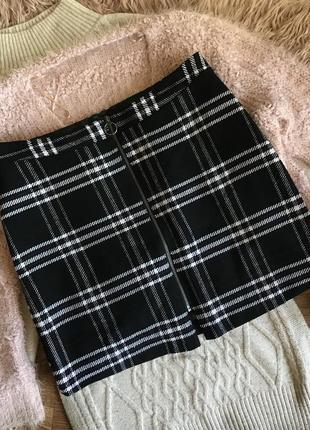 Тёплая юбка-мини(16р)2xl
