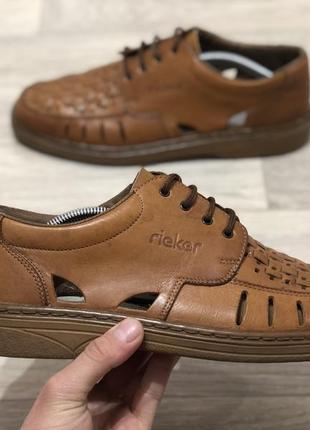 Rieker шкіряні закриті босоніжки туфлі оригінал