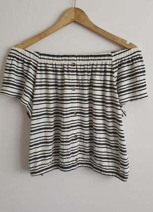 Базовая блуза топ в полоску от f&f