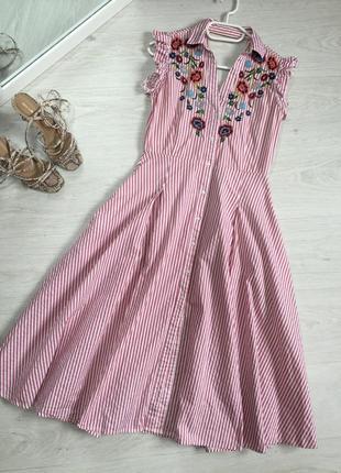 Сукня сарафан міді zara