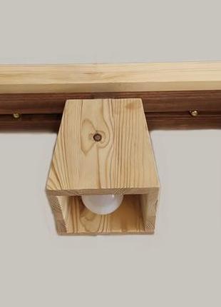 Светильник потолочный деревянный. люстра для детской. ручная работа