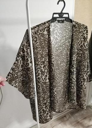 Летняя туника, накидка с животным леопардовым принтом