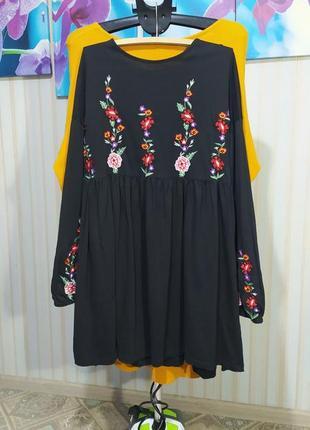 Суперское платье с вышивкоц свободный крой от asos