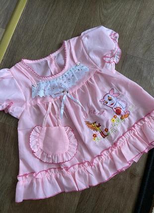 Платье на девочку 9-12 мес