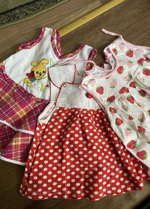 Набор платьев на девочку 9-12 мес
