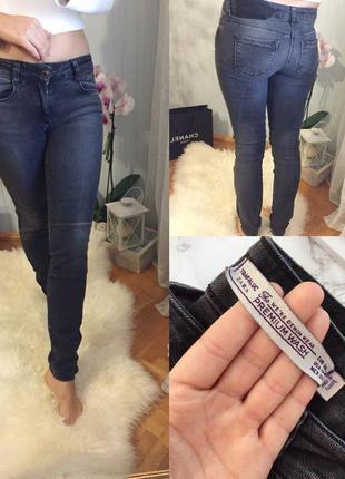 Черно-серые узкие skinny джинсы zara