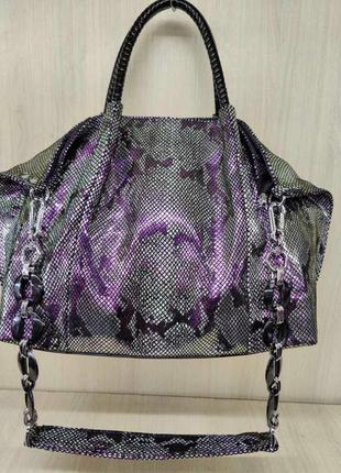 Лазерная кожаная сумка