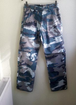 Шикарные прямые брюки защитного цвета (1066)