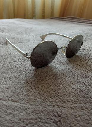 Очки солнцезащитные круглые, зеркальные3 фото