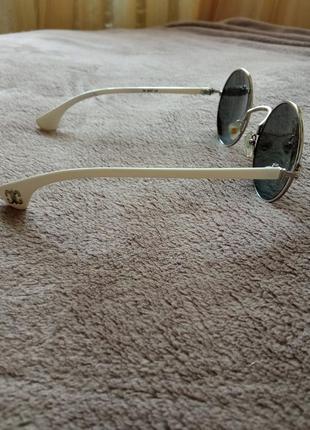 Очки солнцезащитные круглые, зеркальные2 фото