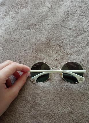 Очки солнцезащитные круглые, зеркальные4 фото