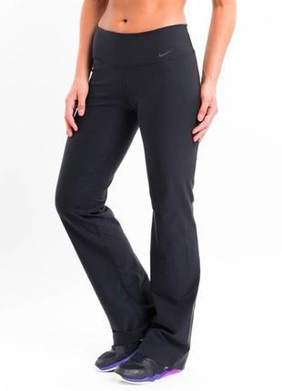Спортивные штаны nike dri fit р. 48-50 (l) прямые/можно на высокий рост/на широком поясе