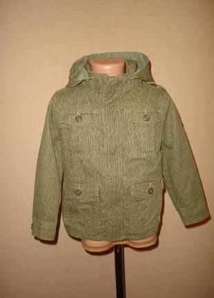 Котоновая куртка, пиджак h&m на 3-4 года