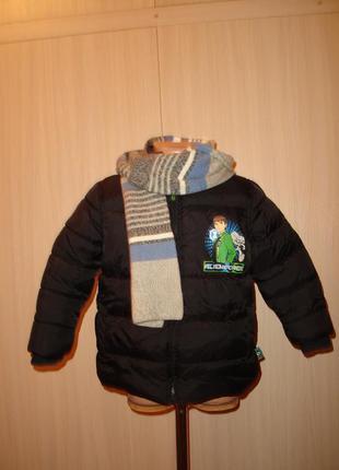Теплая зимняя куртка на 3-4 года mothercare