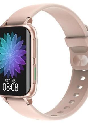 Умные часы smart dtx pro pink тонометр,пульсометр,сатурация