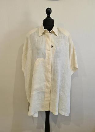 Белый льняной пиджак жакет франция