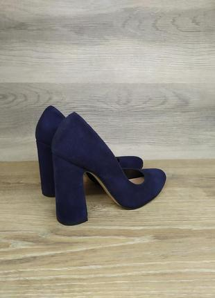 Замшевые туфли на каблуке - натуральная замша , 36 размера model 2349