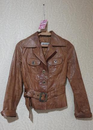 Куртка кожаная кожа жатка
