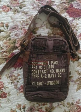 Оригинальная сумочка mavi с вставками из натур. кожи