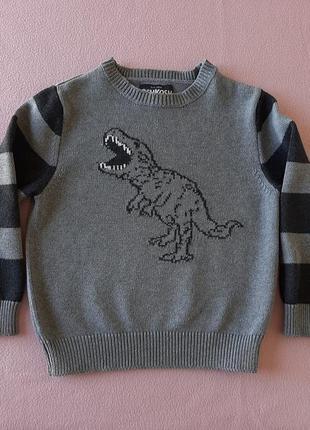 Серый свитер oshkosh динозавр
