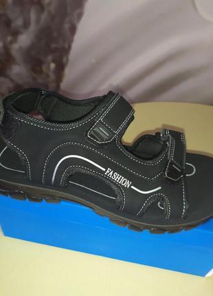 Мужские сандалии fashion.летние босоножки на липучках.