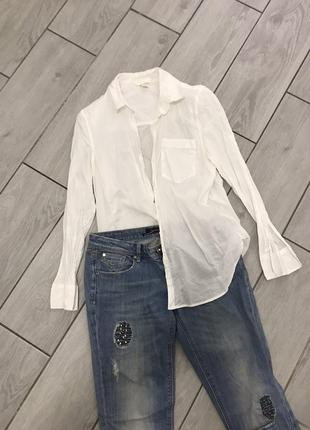 Сорочка біла натуральна