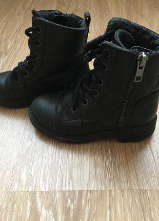 Ботинки zara 27 размер, 17 см стелька