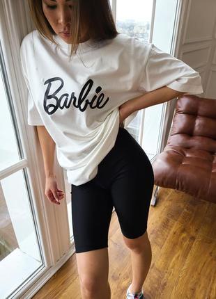 Костюм barbie футболка и велосипедки
