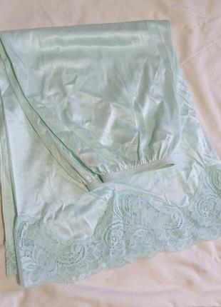 Мятная нижняя юбка подъюбник миди st.michael р.14-16