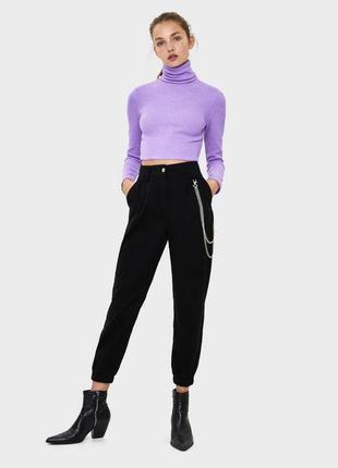 Штаны брюки чёрные от bershka