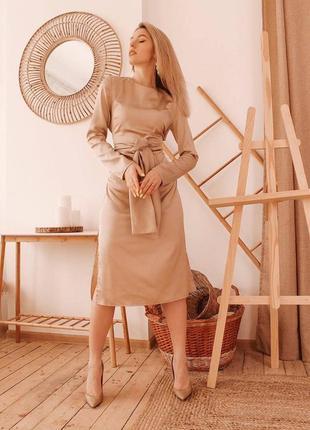 Базовое платье из шелка армани