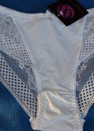 Белые трусики микрофибра+кружево от venus
