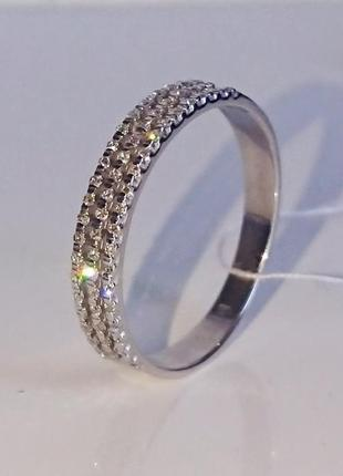 Кольцо обручальное дорожка бриллиант  діамант золото