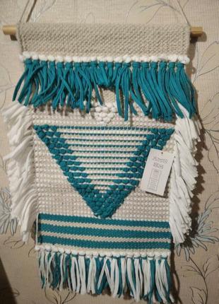 Панно тканевое плетеное