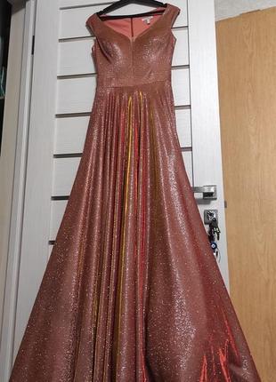 Платье выпускное  шикарное с блестками🔥🔥🔥