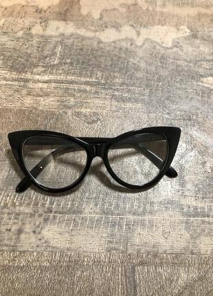 Имиджевые очки кошачий глаз оправа для очков