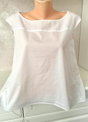 Брендовая белоснежная котоновая блуза