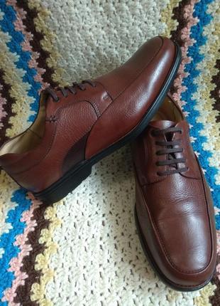 Кожаные фирменные туфли, ортопедические