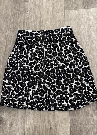 Леопардовая юбка мини лео topshop