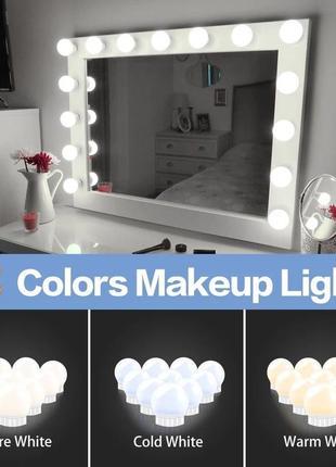 Led подсветка светильник из 14 ламп для зеркала макияжного гримерного