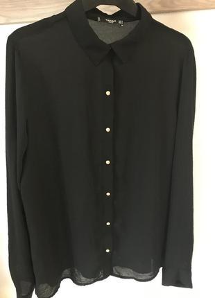 Черная блуза mango