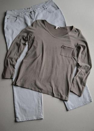 Лёгкий свитшот кофта футболка с длинным рукавом в составе хлопок р.l-xxl  esprit