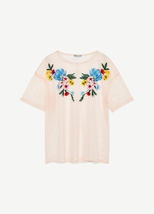 Красивая сетка футболка zara