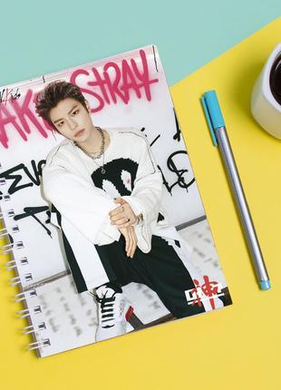 Скетчбук sketchbook для рисования с принтом группа stray kids